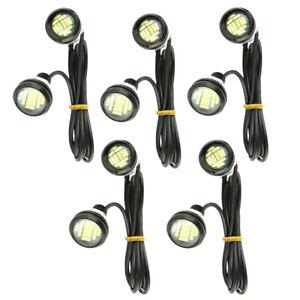 10Pcs 12V 15W White LED Eagle Eye Light Daytime Running DRL Backup Car Rock Lamp