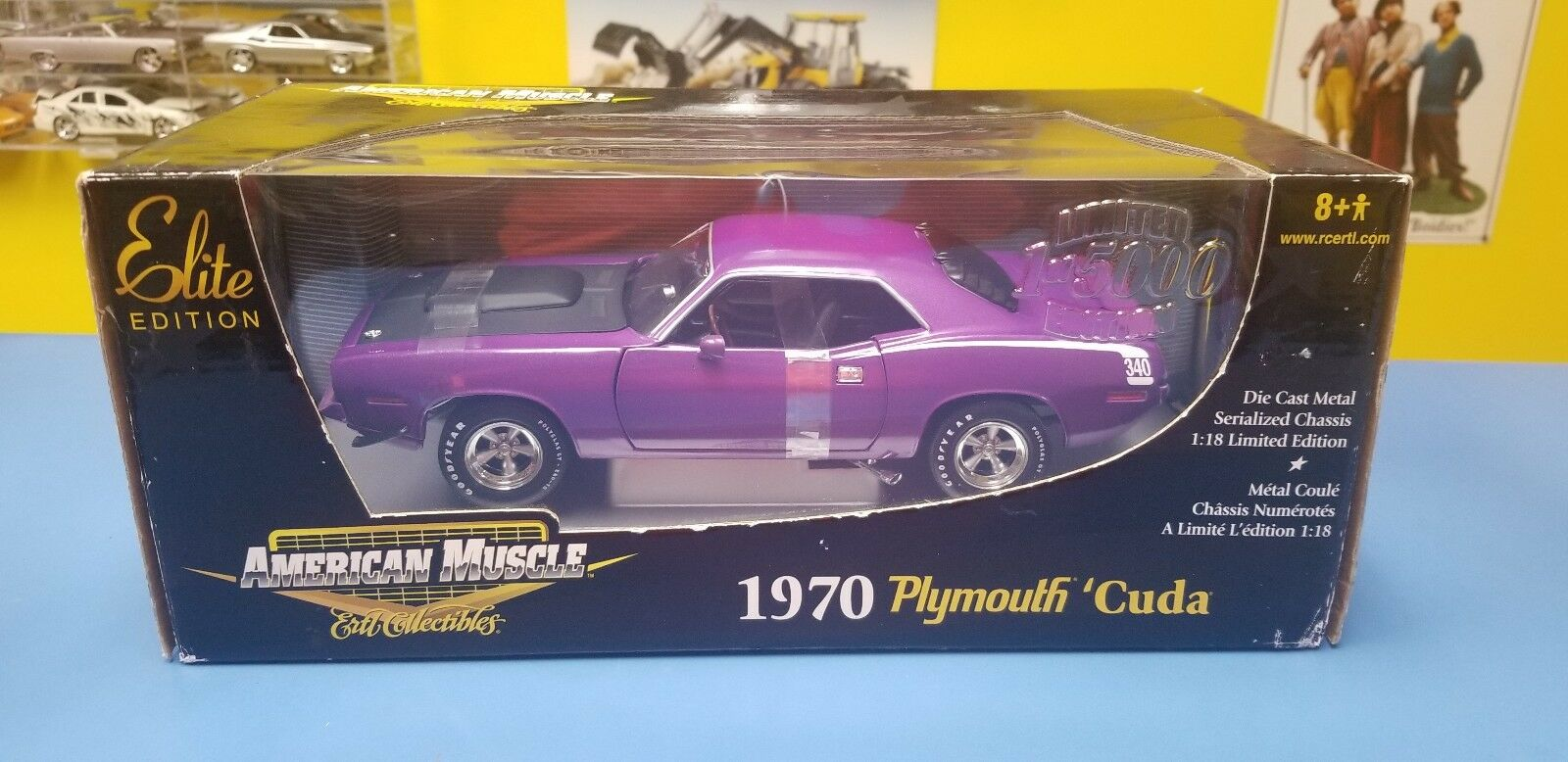 AMERICAN MUSCLE 1970 PLYMOUTH CUDA  LIMITED  EDITION 1 OF 5000   NEW