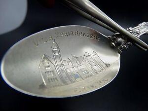 """Villa Maria Academy Erie Pa. 6"""" Sterling Silver Souvenir Spoon"""