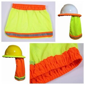 4e79945858163 Safety Hard Hat Neck Shield Helmets Sun Shade HI VIS Reflective ...