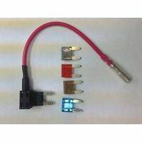 Atm Fuse Tap Add-a-fuse/add-a-circuit + 4 Fuses, For Mini Blade Style Fuses
