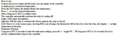 50-110 ° C Temperatura Termómetro Termostato Cool Control Interruptor DC 12V