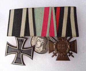 original-Spange-mit-Orden-Hessen-EK-II-1914-amp-Ehrenkreuz-14-18