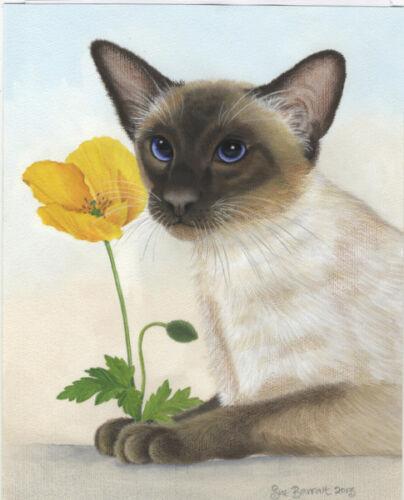 Cats Siamese//poppy Ltd.Edition canvas Fine Art Print Original Painting  Barratt