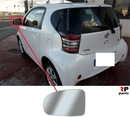 FOR TOYOTA IQ 08-19 WING MIRROR GLASS HEATED WITH FRAME LEFT N//S