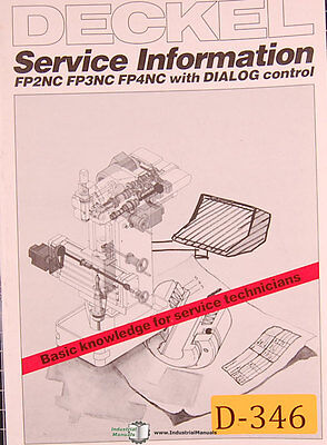 Deckel FP2NC, FP3 and FP4, With Dialog Control, Service Information Manual  | eBay