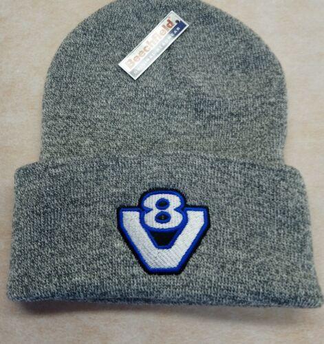 V8 BEANIE HAT GREY STYLE 2