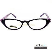 NWT$39.99 MIASTO BLING CAT EYE RHINESTONES READER READING GLASSES SPECS+2.00