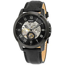 Fossil Grant Automatic Black Skeleton Dial Mens Watch ME3096
