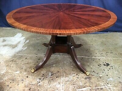 Leighton Hall Traditional Mahogany Round Pedestal Dining Table 54 Inch Ebay