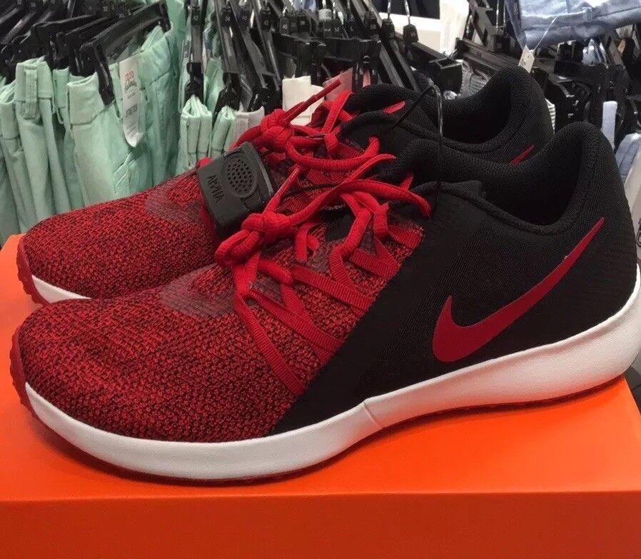 New Men's Nike Varsity Complete Trainer Sz 10 Red & Black Combo