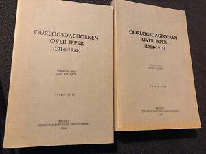 Oorlogsdagboeken over Ieper (1914 -1915) - Jozef Geldhof 2 delen