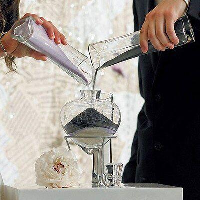 Set 4 vasi vetro Matrimonio Rito della Sabbia Cuore Cerimonia Idea Chic Sposi