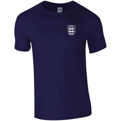 STOKE CITY  3 LIONS CLUB AND COUNTRY SMALL CREST T-SHIRT MENS