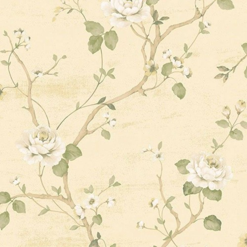 G67602 Palazzo Floral Green Brown Sand Galerie Wallpaper