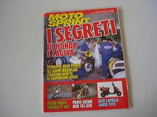 MOTOSPRINT 22/1993 YAMAHA TT 600/SUZUKI MXR 125 e 250/ITALJET PISTA