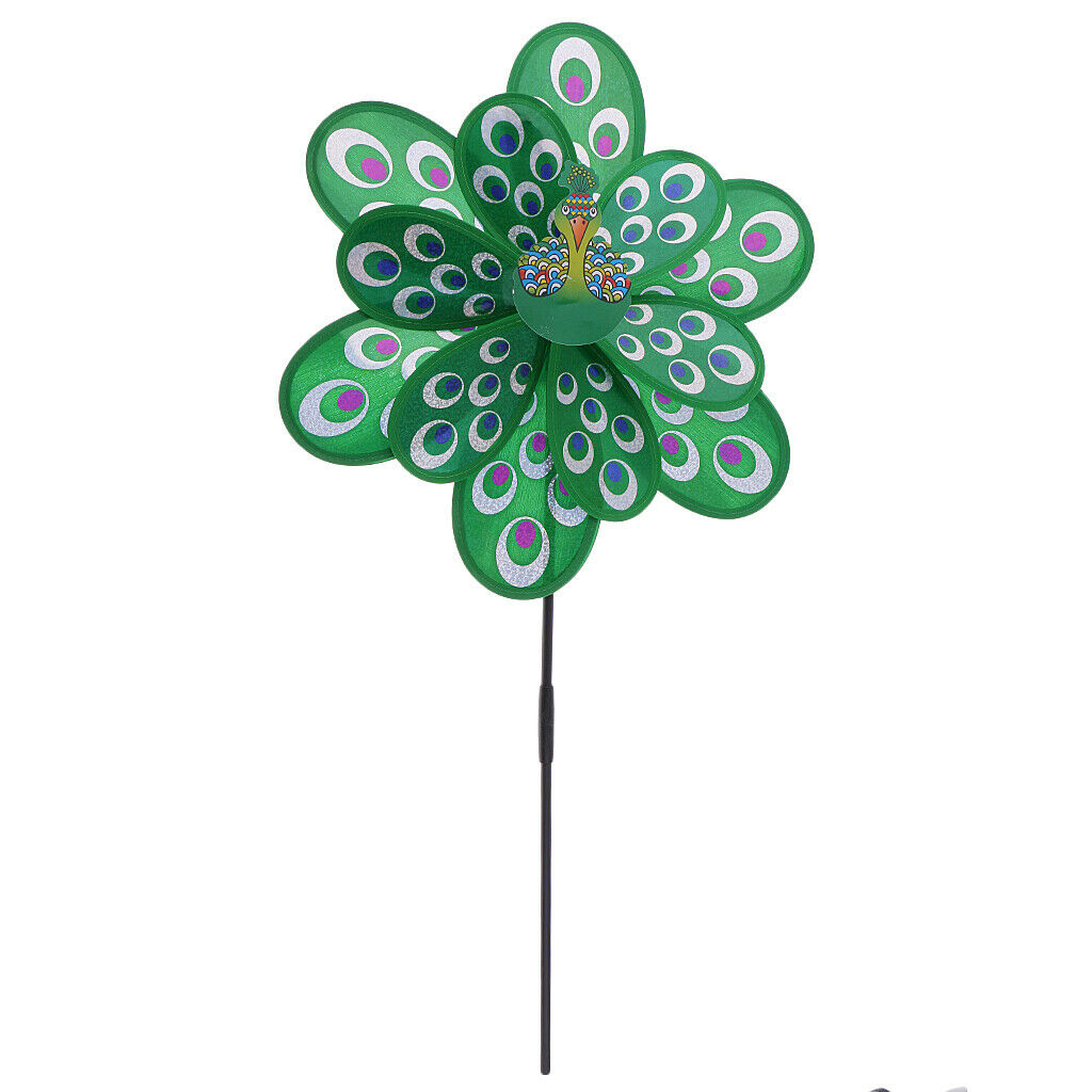 3D DIY windmill, beautiful peacock design, easy to assemble, kids outdoor