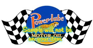 1949 Power-lube Oil Gasoline Contour Cut Vinyl Decals Stickers Motor Oil Gas