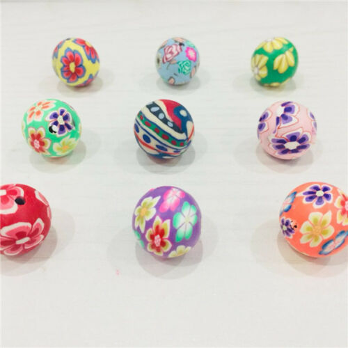 Mixed Color Round Fimo Beads Polymer Clay Beads Finding 12,14,16,18mm 150pcs