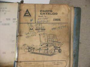 Details about Allis Chalmers Combine M Series Parts Catalog Manual