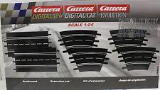 CARRERA 26955 EXTENSION SET 2 1/24 1/32 SLOT CAR TRACK 6 PIECES