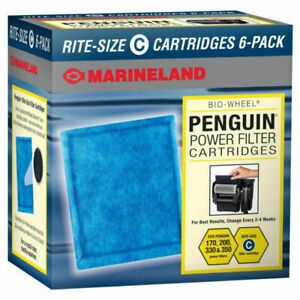 Marineland Penguin Power Rite-Size C Filter Replacement Cartridge - 6 Count