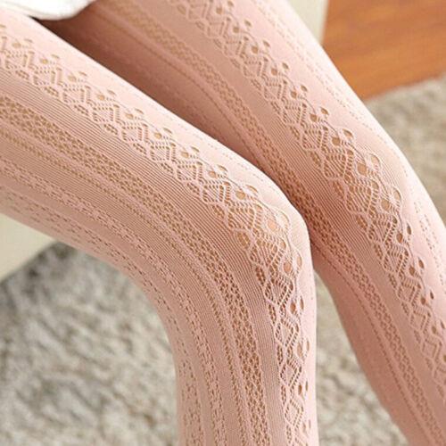 Femme Résille Dentelle Fleur Respirable Élastique Montante Bas Collants Leggings