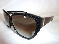 SALVATORE FERRAGAMO SUNGLASSES SF711SL 001 BLACK /GREY 59-11-135 NEW & AUTHENTIC