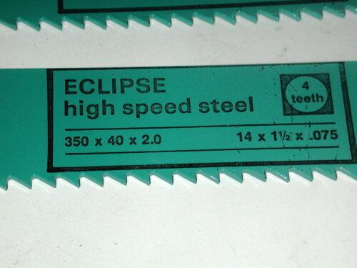 "2 NOS Eclipse UK HSS Steel 4TPI  14/"" x 1-1//2/"" x .075/"" POWER HACKSAW BLADE AE449X"