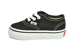 997d0aecd2d160 Image is loading Vans-Authentic-Infants-Toddlers-Baby-Boys-Girls-Black-