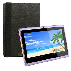 4GB-A13-7-034-Google-Android-4-0-Purple-Tablet-PC-Capacitive-Touch-Screen-with-Case
