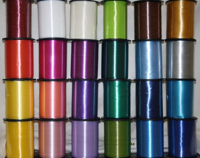 full reel curling ribbon 500 metres CHOOSE COLOUR balloons gift wrapping