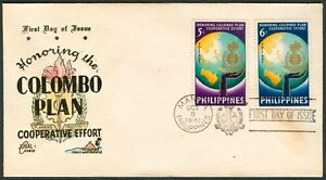 Philippine-1961-Honoring-The-COLOMBO-PLAN-Cooperative-Effort-FDC-A