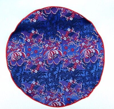Lord R Colton Masterworks Pocket Round Merano Red Floral Silk $75 Retail New