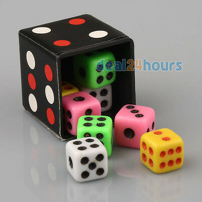 Dice Color Change Size Magic Trick Magical Prop Toy Easy To Do & Instruction