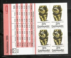 Denmark-SC-1059-Pitcher-By-Thorvald-Bindesboll-Complete-Booklet-MNH