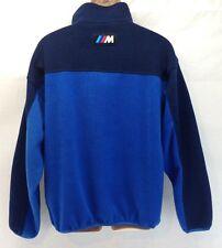 BMW M Power Mens XL Blue 1/4 Zip Fleece Pullover Jacket Apparel