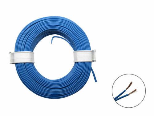 10m Litze 2x0,08mm² Kabel Zwillingslitze Doppellitze Schaltlitze Cable Wire blau