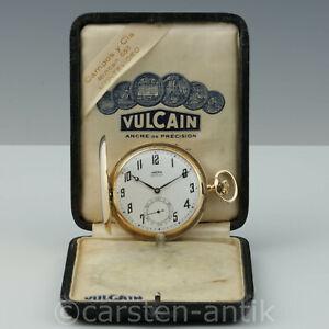 Ditisheim-amp-Co-18k-Gold-Savonnette-034-Chronometre-Vulcain-034-Original-Box