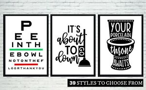 Bathroom Sayings Wall Art.Details About Set Of 3 Bathroom Wall Art Prints 39 Styles Sayings Quotes Funny Home Picture