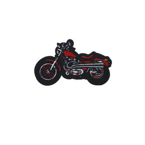 1X-Cartoon-Motorcycle-Embroidered-Iron-On-Patch-Applique-For-Clothing-Jacket-FT