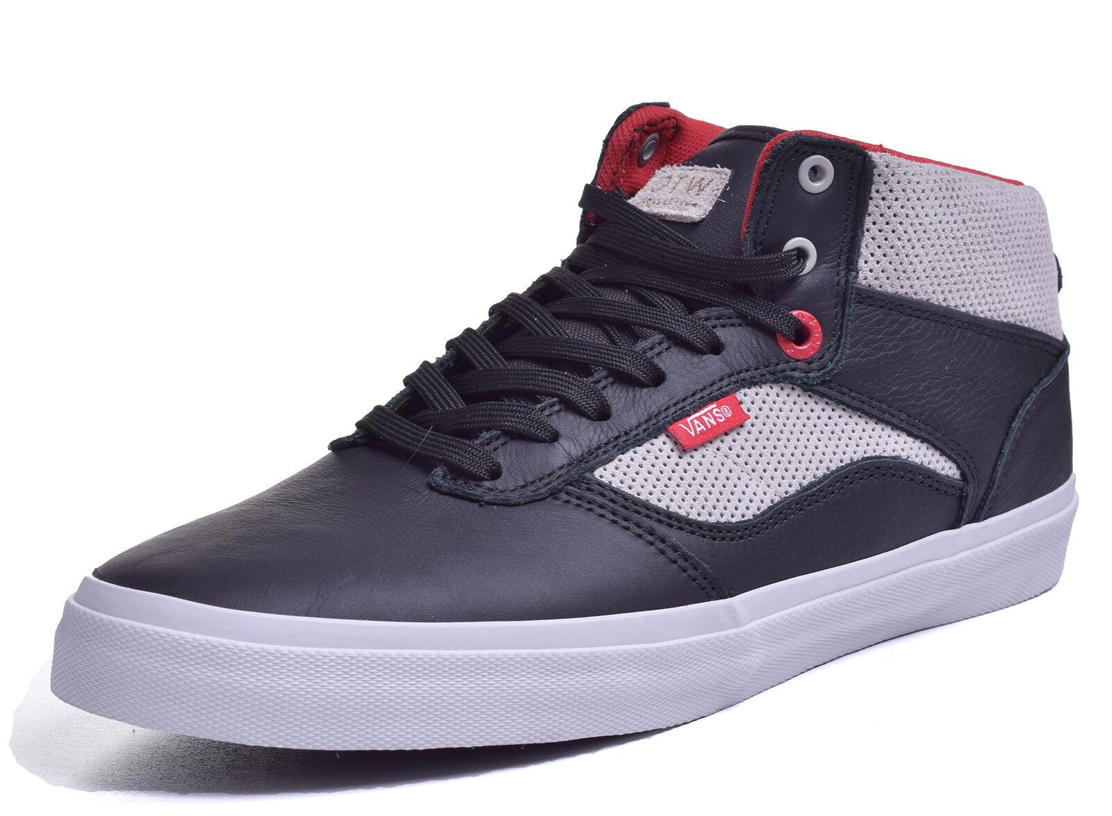 58bd7e1af5480 Vans Men s Bedford Bedford Bedford Midtop LS Black Moon Leather Sk8 Shoes  Size 13 8056d8