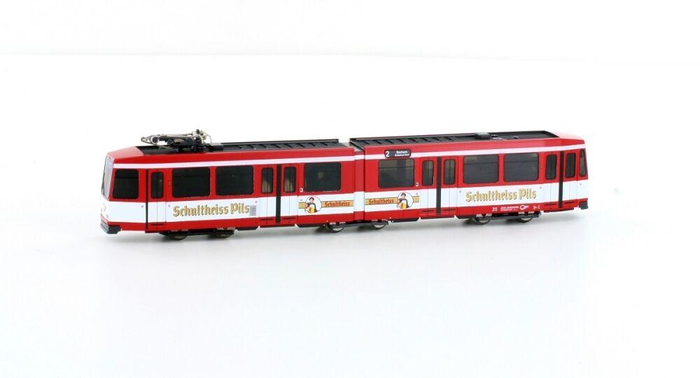 HOBBYTRAIN h14 Tranvía düwag M6 bogestra Schultheiss PILS  Rojo NUEVO
