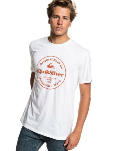 QUIKSILVER MENS T SHIRT.NEW SECRET INGREDIENT WHITE SHORT SLEEVED TOP TEE 9S 65W
