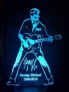 George Michael Faith Engraved Acrylic LED lamp