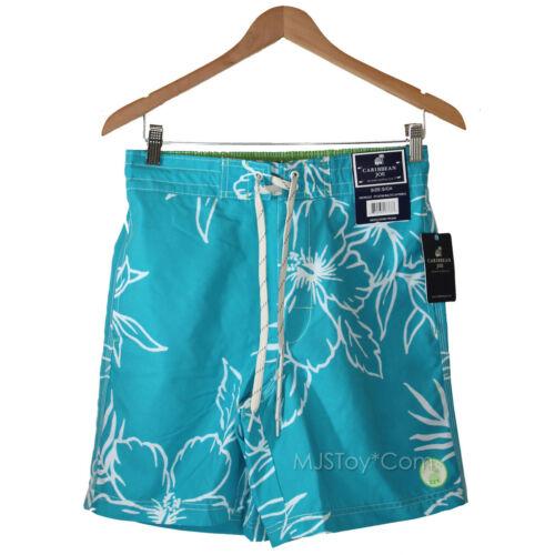 NWT CARIBBEAN JOE men swim trunk swimsuit tropical Floral Beach Board Short