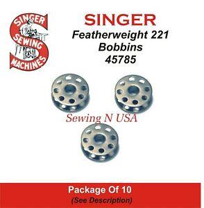 Pkg of 5 Singer Featherweight Sewing Machine Bobbins 221 222 301 #45785