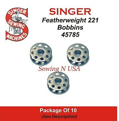 301 #45785 16 Bobbins for Singer Featherweight 221