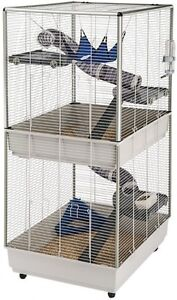 Large-Rat-Ferret-Cage-Chinchilla-Squirrel-House-Pet-Safety-Home-Metal-W-Wheels