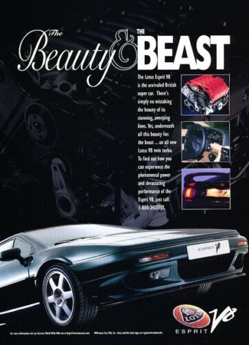 Classic Vintage Advertisement Ad D17 Beast black 1997 Lotus Esprit V8